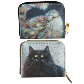 Small Cat Zip Around Purse