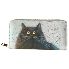 Large Cat Zip Around Purse