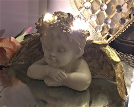 LED Cherub Head on Arms 25cm