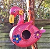 Flamingo Metal Birdhouse