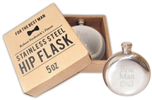 Engraved Hip Flask Best Man