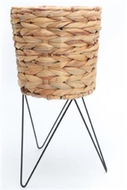Woven Planter With Legs 43cm