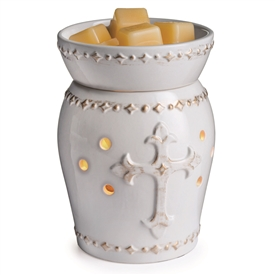 Cross Design Ceramic Electric Wax Melter - Faith