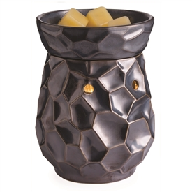 Ceramic Mottled Blue Electric Wax Melter