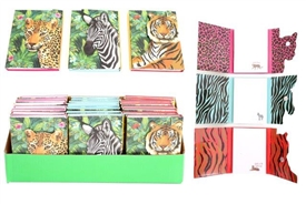 Safari Animal Magnetic Notepad 3 Assorted 10cm