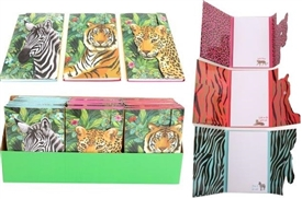 Safari Animal Magnetic Notepad 3 Assorted 18cm