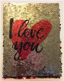 Red Heart Sequin Card 18cm