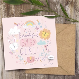 Card With Magic Growing Bean � Baby Girl