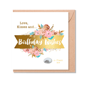 Card With Magic Growing Bean � Birthday