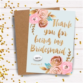 Card With Magic Growing Bean � Bridesmaid