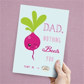 Card With Magic Growing Bean � Dad