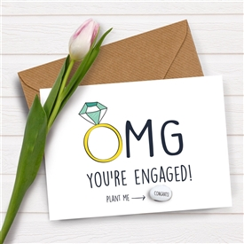 Card With Magic Growing Bean � Engaged