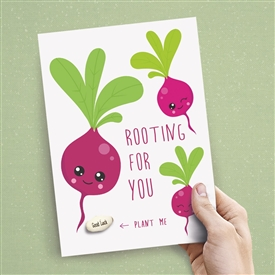 Card With Magic Growing Bean � Good Luck
