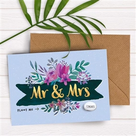 Card With Magic Growing Bean � Wedding