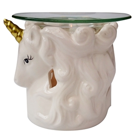 Unicorn Head Oil Burner - White