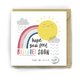 Card With Magic Growing Bean � Feel Brighter Soon