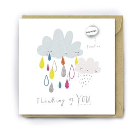 Card With Magic Growing Bean � Thinking Of You