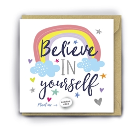 Card With Magic Growing Bean � Believe In Yourself
