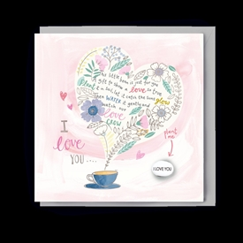 Card With Magic Growing Bean - Love You Poem