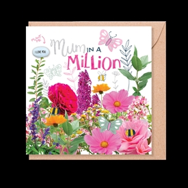 Card With Magic Growing Bean - Mum In A Million