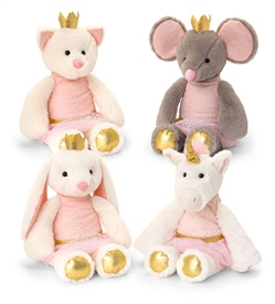 20cm Plush Sitting Animal Teddies 4 Assorted