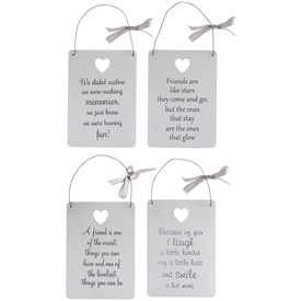 Hanging Sentiment Sign 4 Assorted
