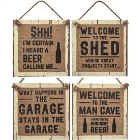 Hessian Man Sign 4 Assorted