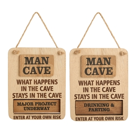 Rotating Man Cave Sign