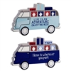 Camper Van Block Sign Decoration 2 Assorted Pirced Individually