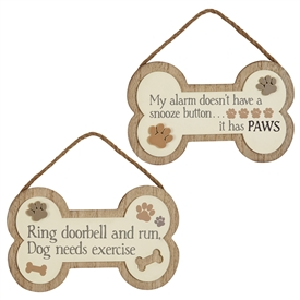 Dog Bone Plaque 2 Assorted