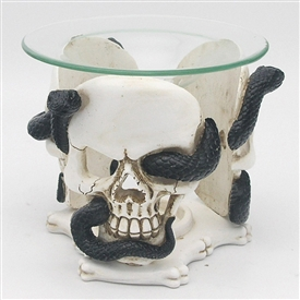 Skull And Serpent Wax/Oil Warmer