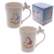 Unicorn Handle Shaped Ceramic Mug