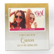 If The Crown Fits Glitter Frame