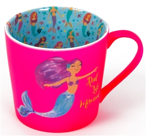 SPECIAL OFFER (Was £3.45) Pink Mermaid Mug Giftboxed