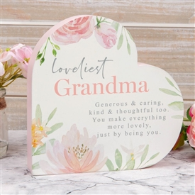 Heart Mantel Plaque Grandma 15cm