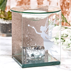 Rose Gold Fairy Glass Oil Burner