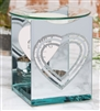 Silver Heart Photo Frame Oil Burner