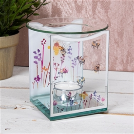 Bee & Wildflower Glass Wax Melter / Oil Burner