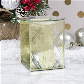 Gold Gatsby Glass Wax Melter / Oil Burner