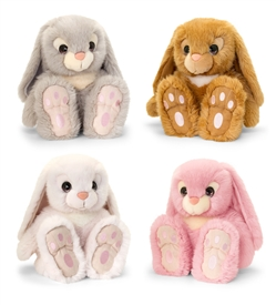 25cm Plush Sitting Bunnys 4 Assorted