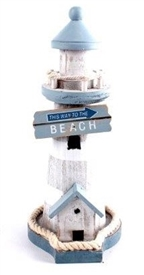 Nautical Wooden Lighthouse Decoration 22.5cm