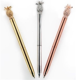 Pineapple Pen 3 Assorted 14cm
