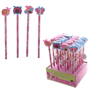 Cute Garden Pencil With Eraser Top