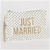 Just Married Zip Bag