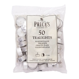 Prices Candles Bag of 50 Tealights - 4.5hr Unscented