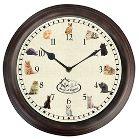 Cat Sound Wall Clock