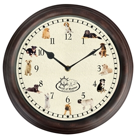 Dog Sound Wall Clock