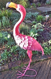 Frank the Metal Flamingo 98cm
