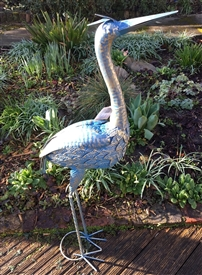 Harriet the Metal Heron 94cm
