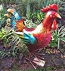 Rodney the Vivid Metal Rooster 39cm